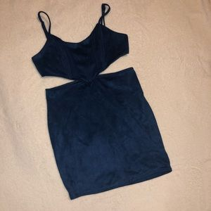 Windsor Small Navy Blue Cut Out Dress